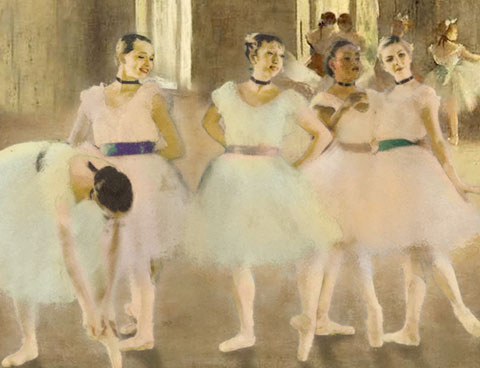 Ballerinas by Degas